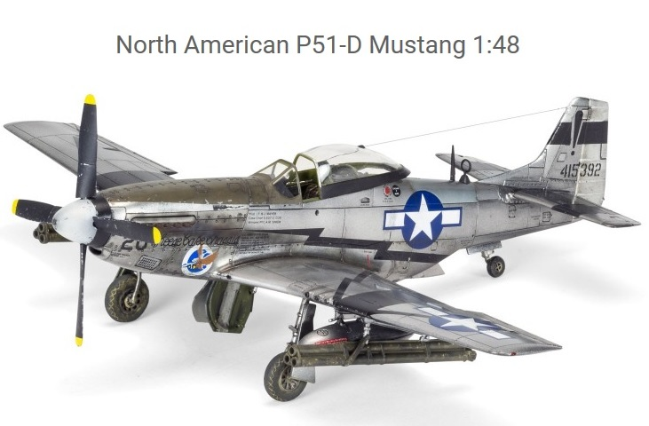 AIRFIX : North American P 51 Mustang escala 1:48 - CHILDRENS HOBBY S.L.